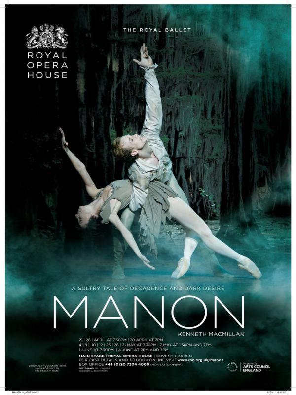 Affiche de Manon (Royal Opera House)