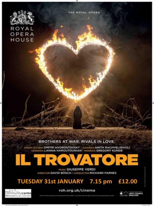 Affiche de Il Trovatore (Royal Opera House)